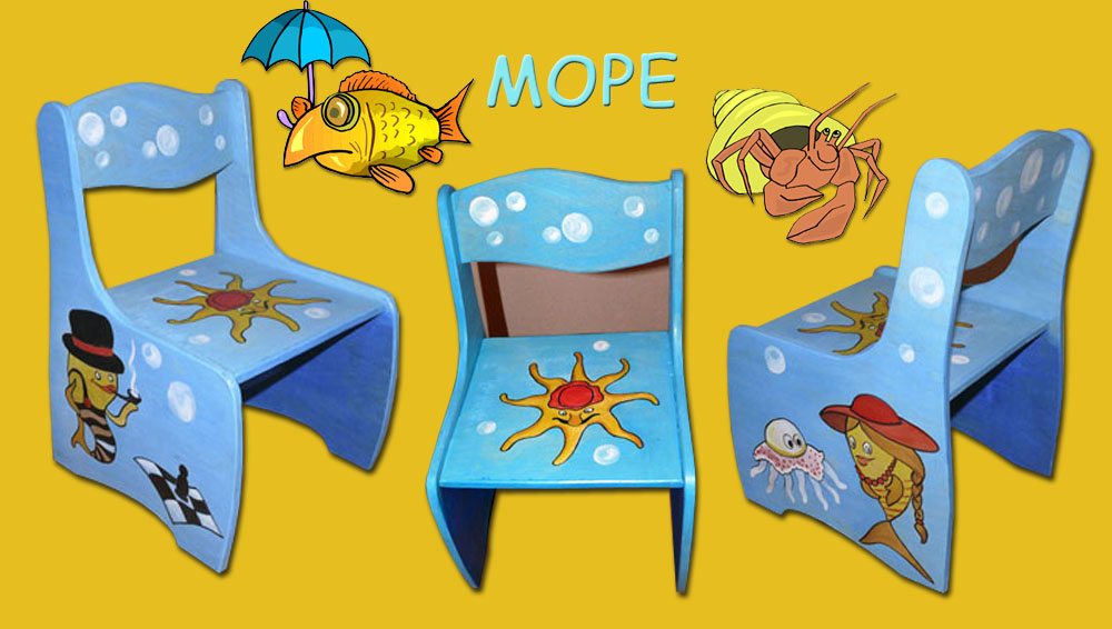 Рисунки на детском стульчике своими руками